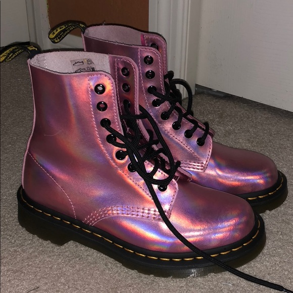 outlet usa cheap sale how to buy Holographic Pink Doc Martens